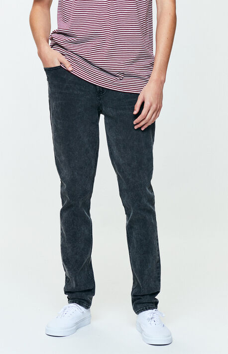 Washed Black Stacked Skinny Jeans