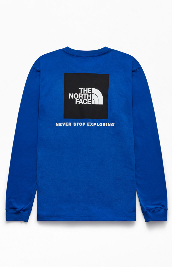 Blue Red Box Long Sleeve T-Shirt