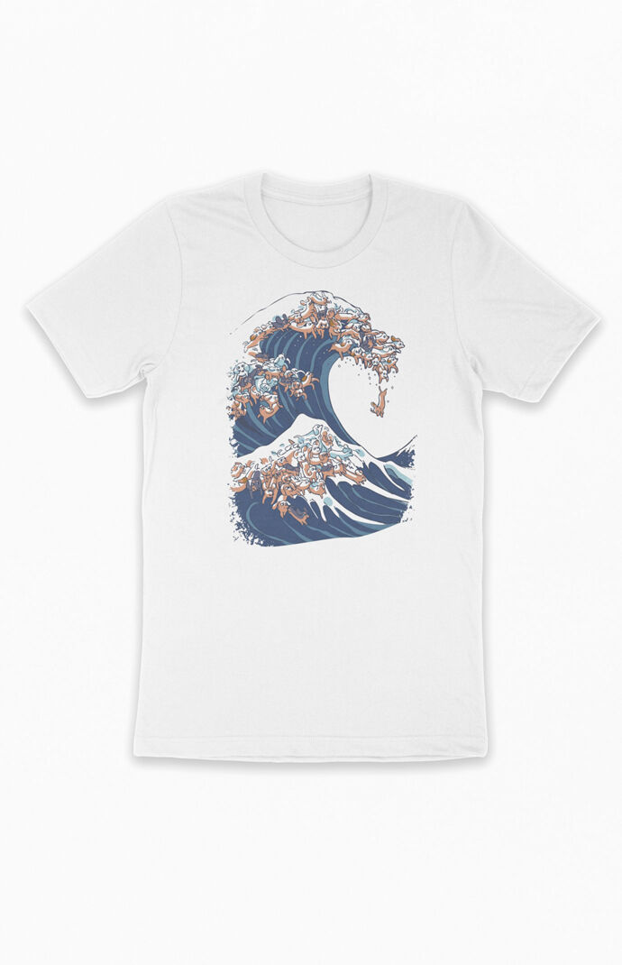 Great Wave Of Dachshunds T-Shirt