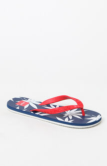 x HUF Red White & Blue Flip Flops