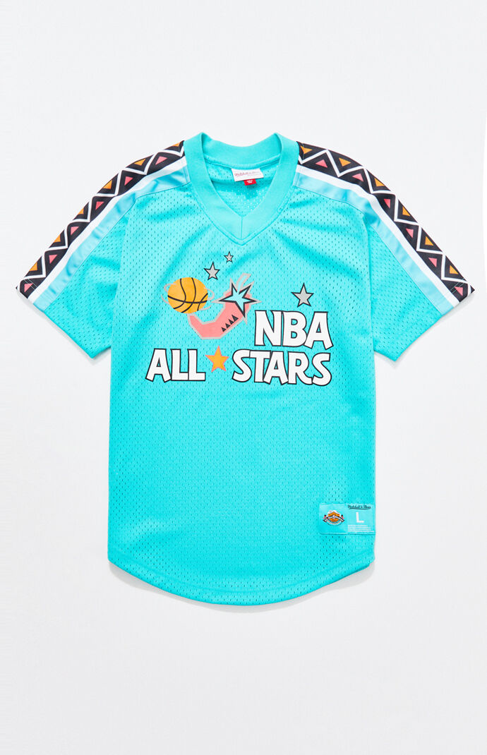 58405868222 Mitchell and Ness Teal All-Star Jersey