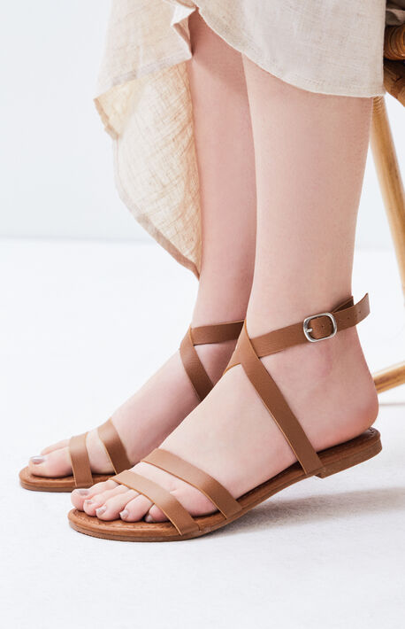d47fb205a3f0 Two Strap Ankle Gladiator Sandals