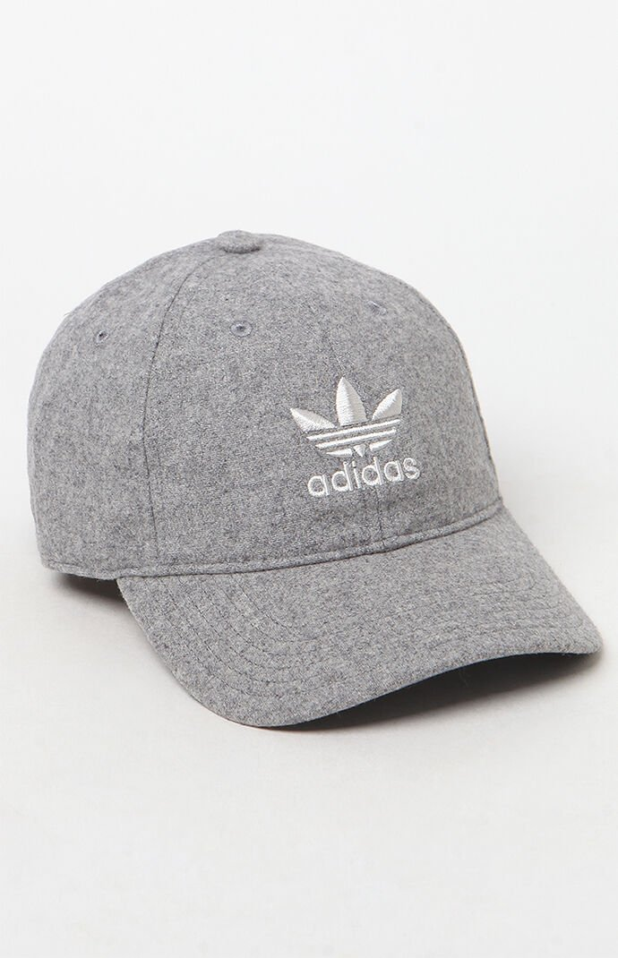 adidas Gray Relaxed Strapback Dad Hat 6898845
