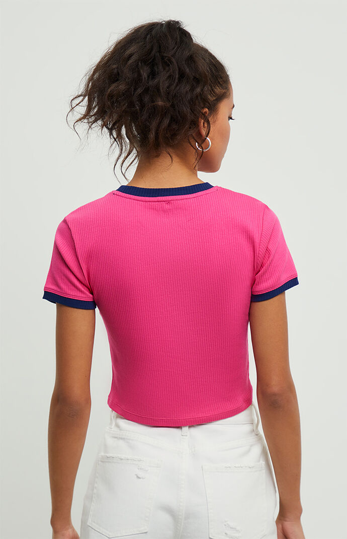 Ribbed Cropped Baby T-Shirt