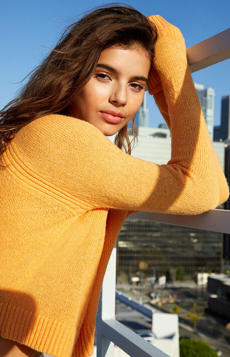 Colorpop V-Neck Long Sleeve Sweater