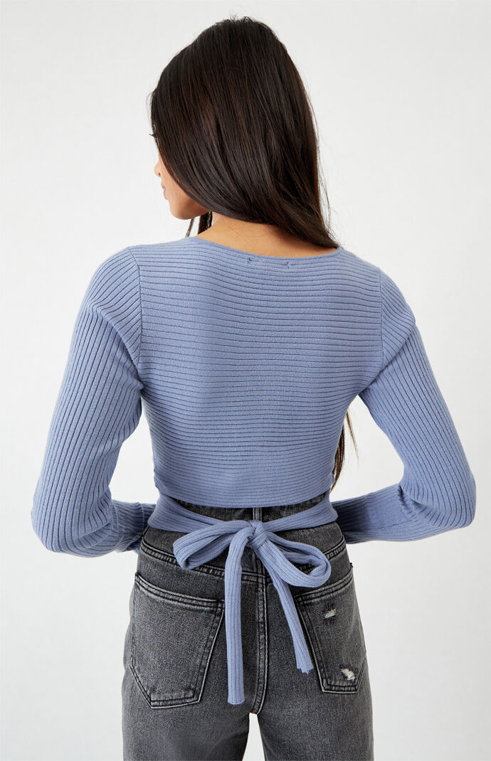 Kendall and Kylie Surplice Long Sleeve Sweater at PacSun.com