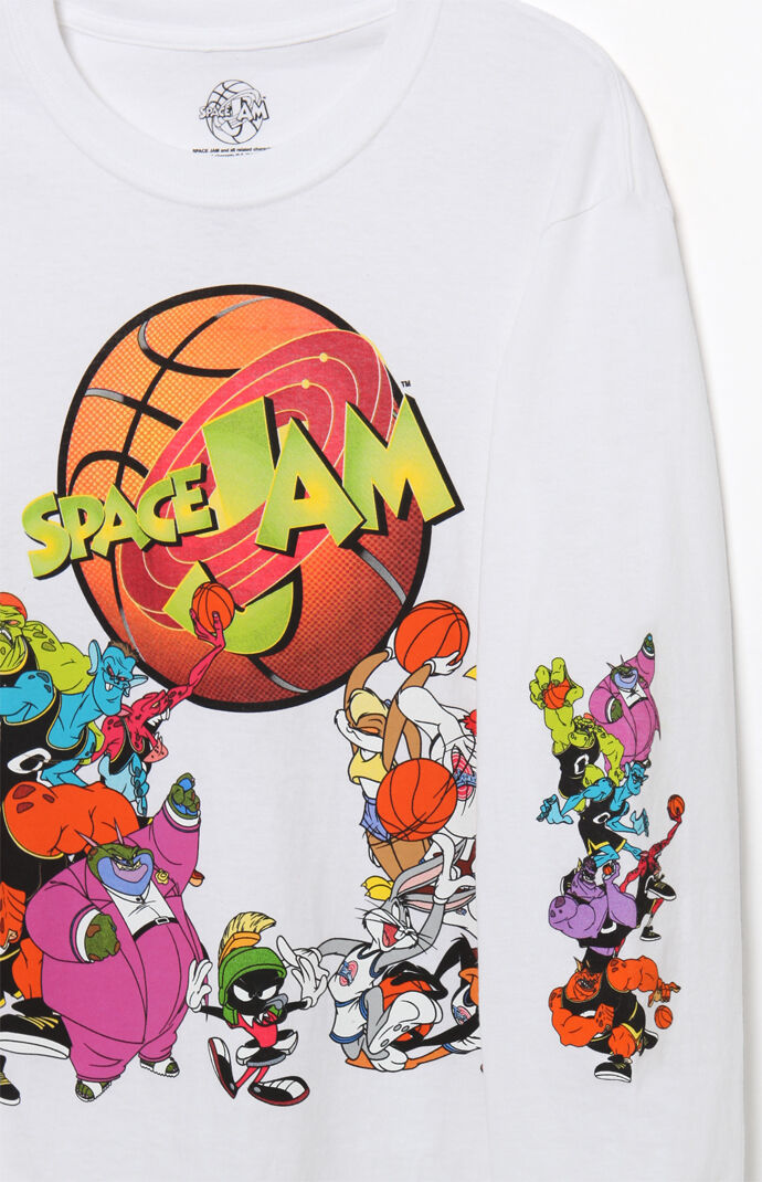 Space Jam Jump Ball Long Sleeve T Shirt Pacsun