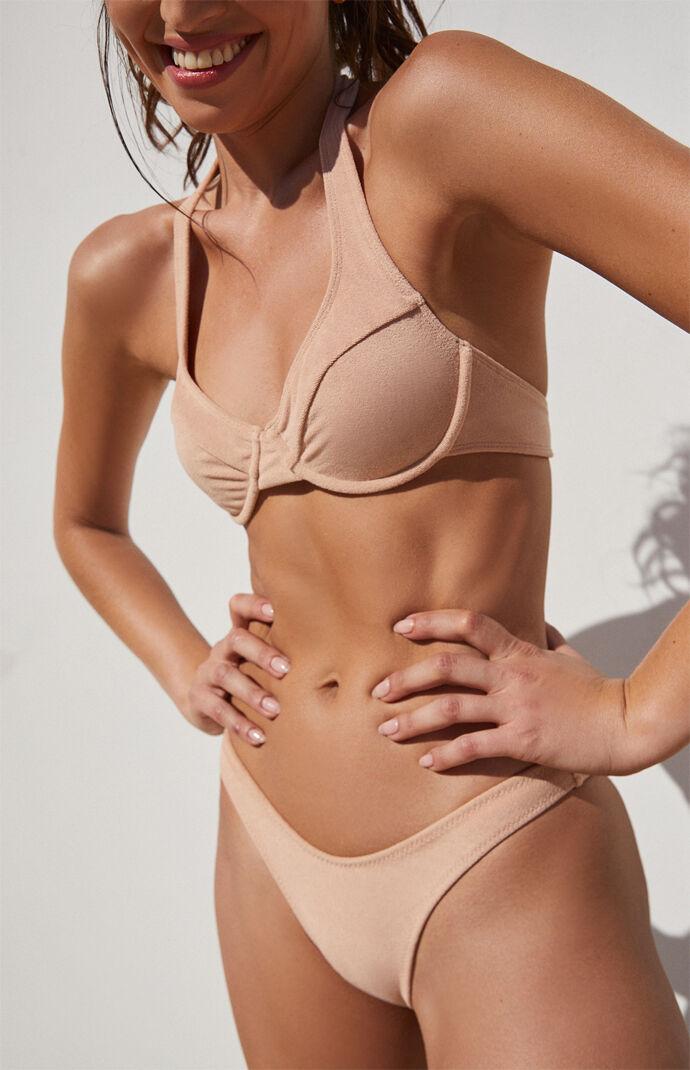 Brown Reno Halter Bikini Top