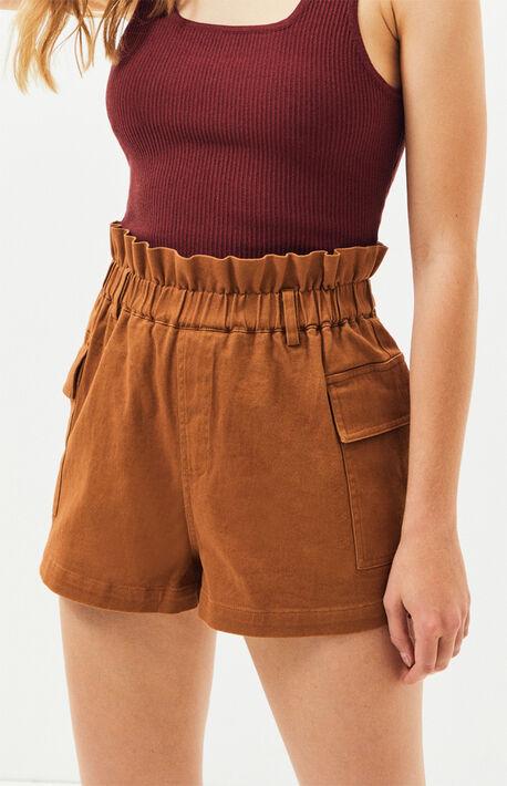 7fb1e111bad52 Paperbag Waist Cargo Shorts