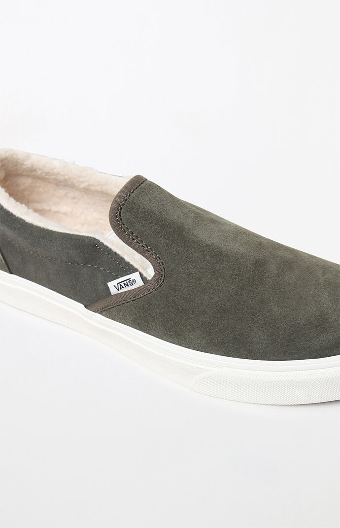32b710daaf8 Vans Sherpa Suede Slip-On Shoes