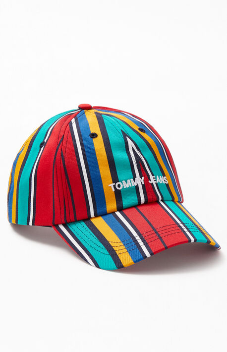 70d1359cab834 Striped Sport Snapback Dad Hat