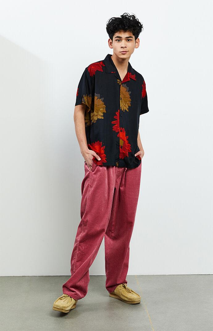 Mauve Easy Corduroy Carpenter Pants