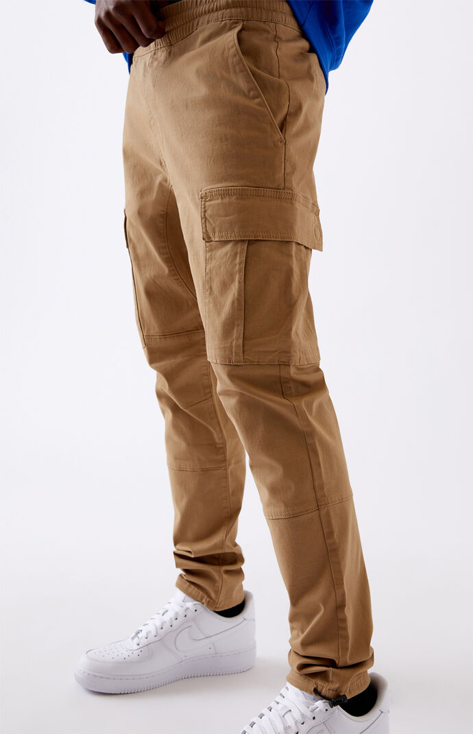 Utility Khaki Slim Cargo Pants