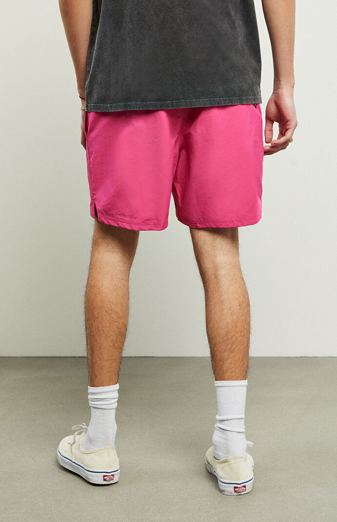 Pink Primary Volley Shorts