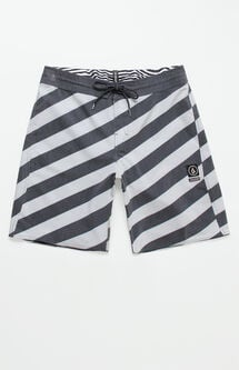 "Stripey Stoneys 19"" Swim Trunks"