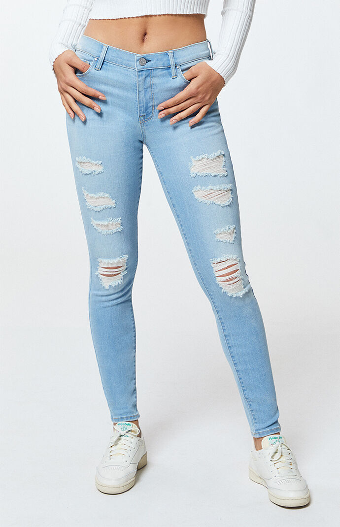a11293159d479 PacSun Mae Blue Perfect Fit Jeggings at PacSun.com