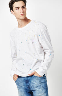 Spill Paint Splatter Long Sleeve T-Shirt