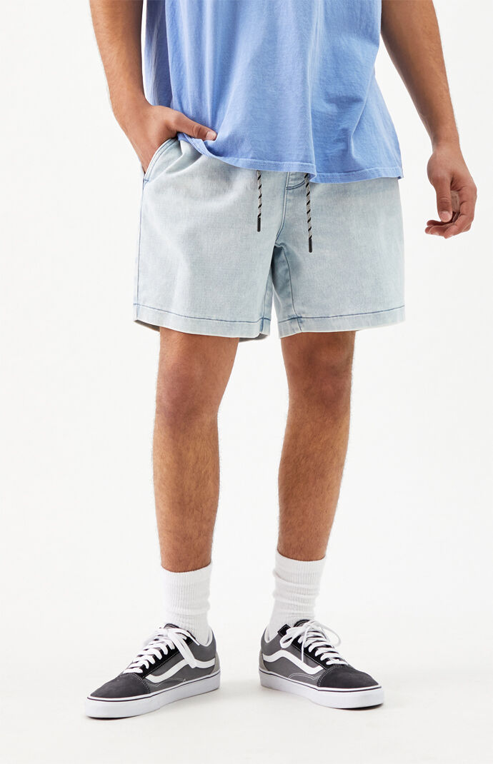 Charles Knit Denim Volley Shorts