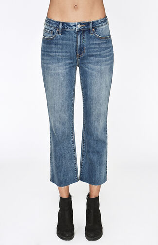 High Rise Crop Kick Jeans