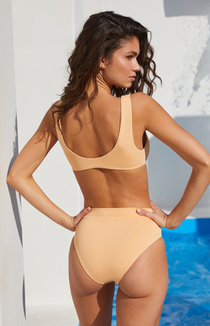 Eco Peach Sig High Waisted Bikini Bottom