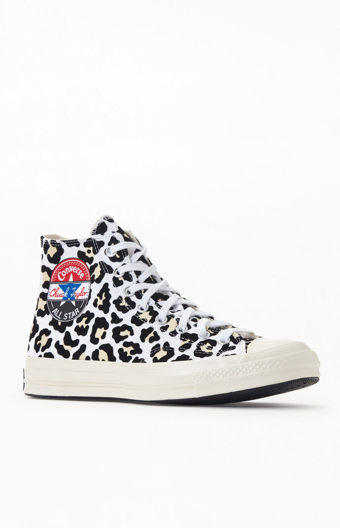 Leopard Chuck Taylor 70 Logo Play High Top Shoes