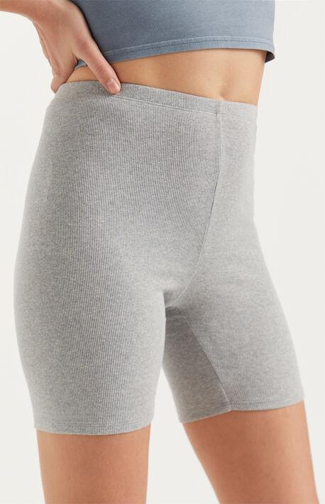 Washed Biker Shorts