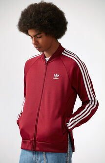 SST Burgundy Relaxed Track Jacket
