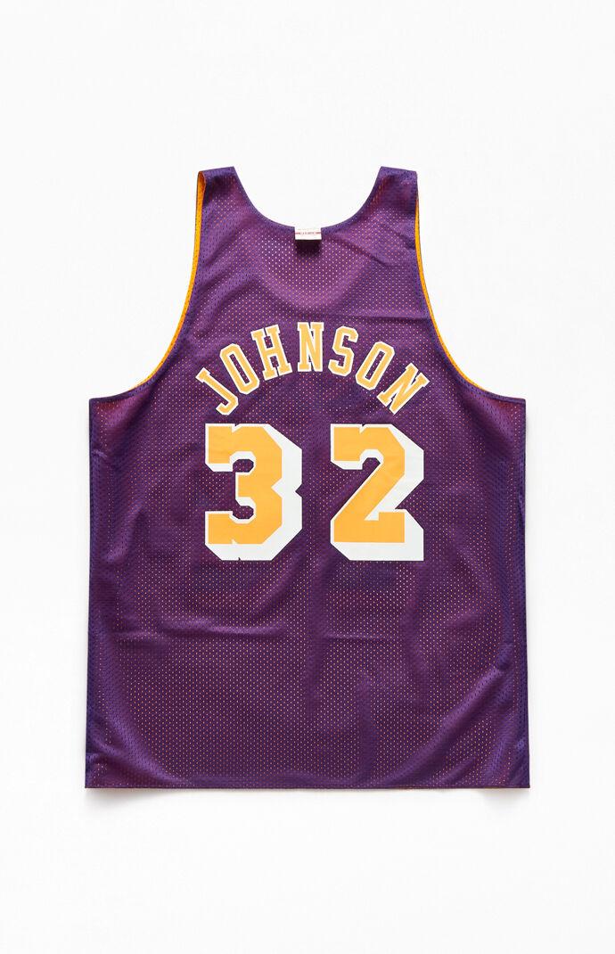 Lakers Johnson Reversible Basketball Jersey