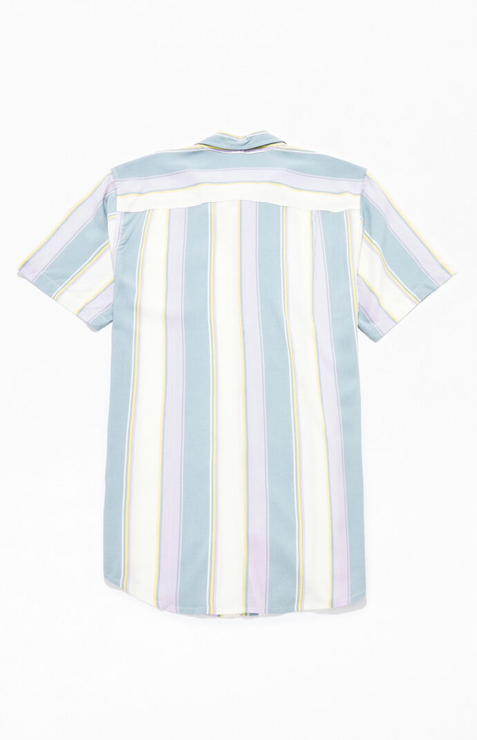 Travis Striped Short Sleeve Button Up Shirt
