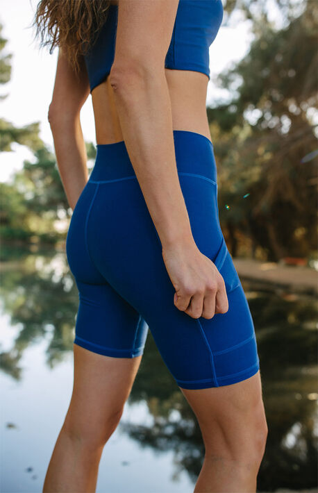 Eco Indigo Pocket Bike Shorts