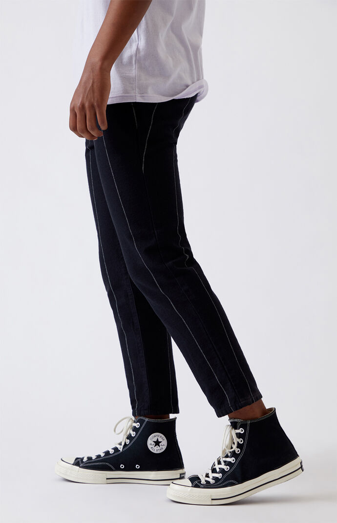 Dark Pinstripe Slim Fit Pants