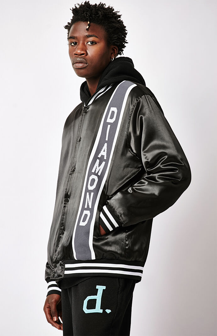 Diamond Supply Co Mens Vertical Stadium Jacket - Black 6982045