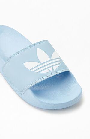 Women's Blue Adilette Slide Sandals image number null