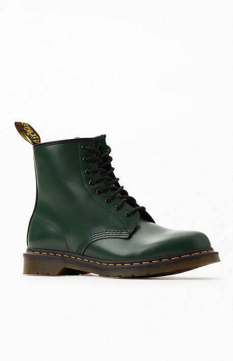 1460 Smooth Leather Green Boots