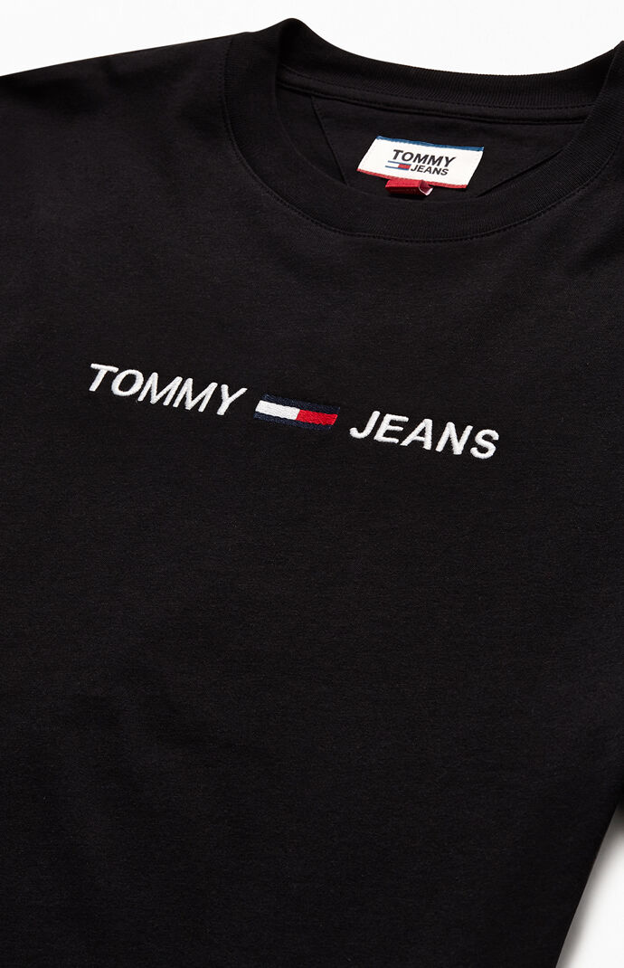 Embroidered Straight Logo T-Shirt