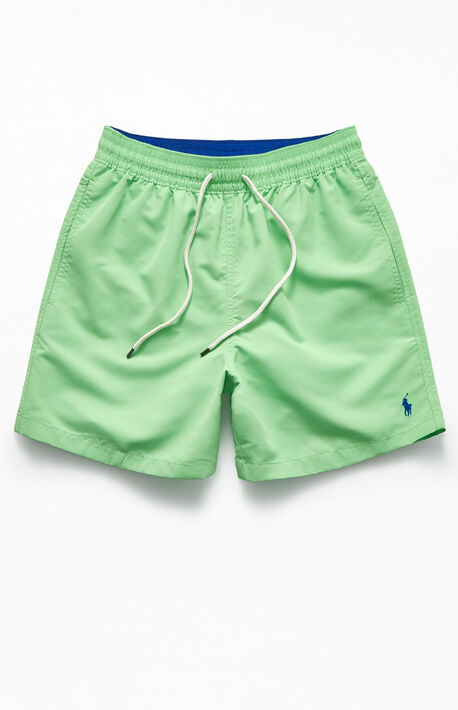 "Green Traveler 17"" Swim Trunks"