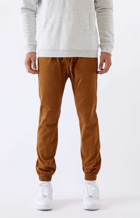 Tan Skinny Jogger Pants