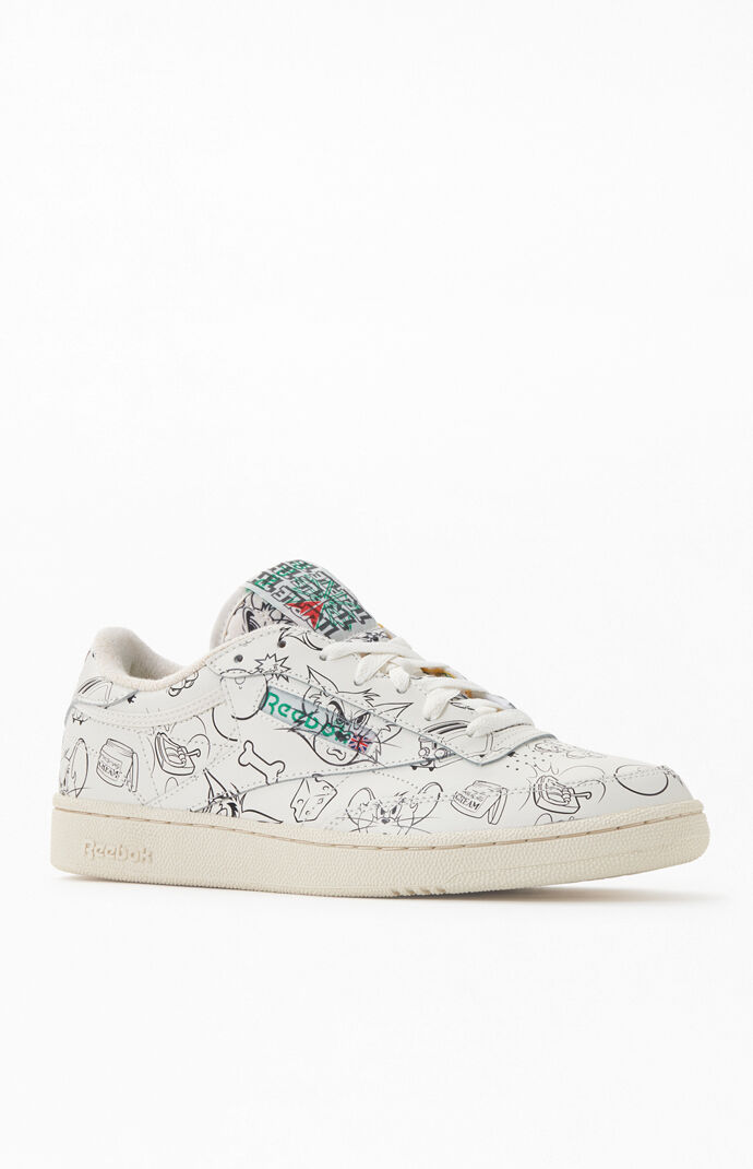 x Tom & Jerry Printed Club C 85 Shoes