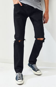 Skinny Comfort Stretch Destroy Black Jeans