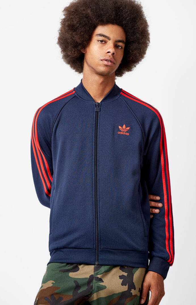 adidas Superstar Blue & Red Track Jacket - Dark Blue 6460919
