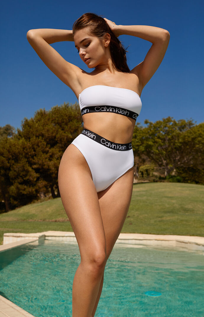 Calvin Klein Logo Bandeau Bikini Top at PacSun.com