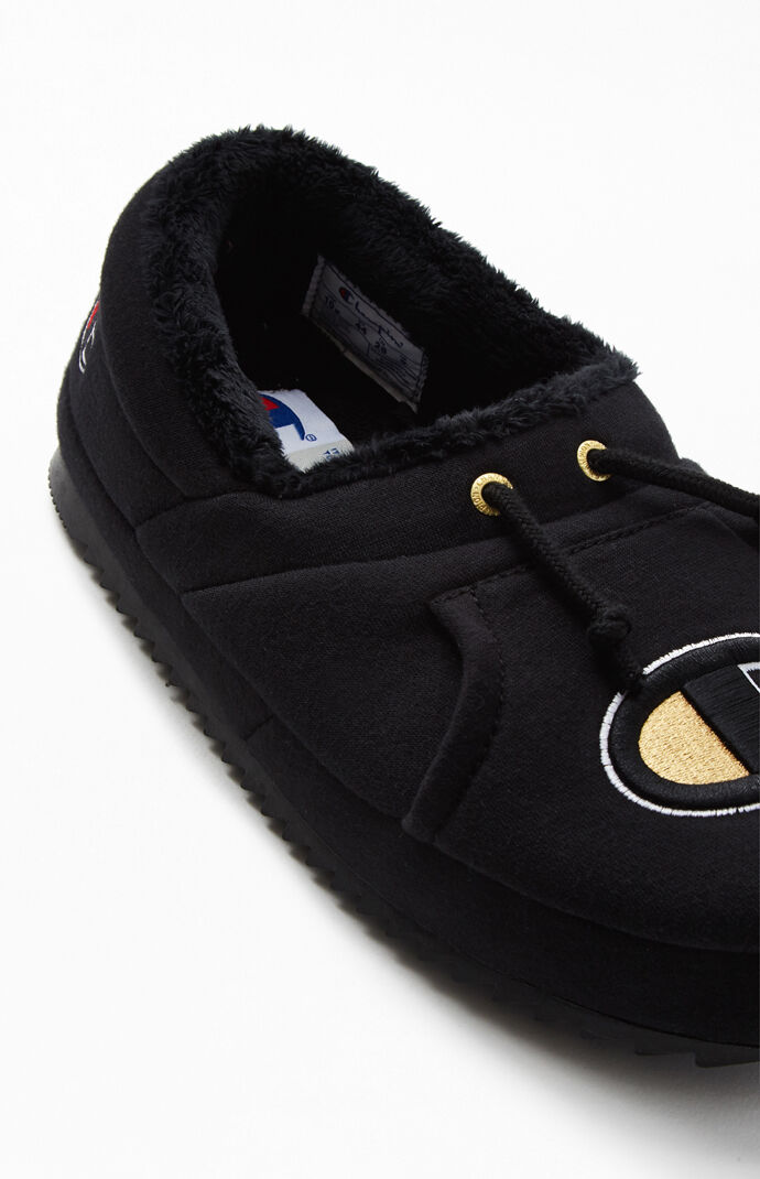 Black University Slippers