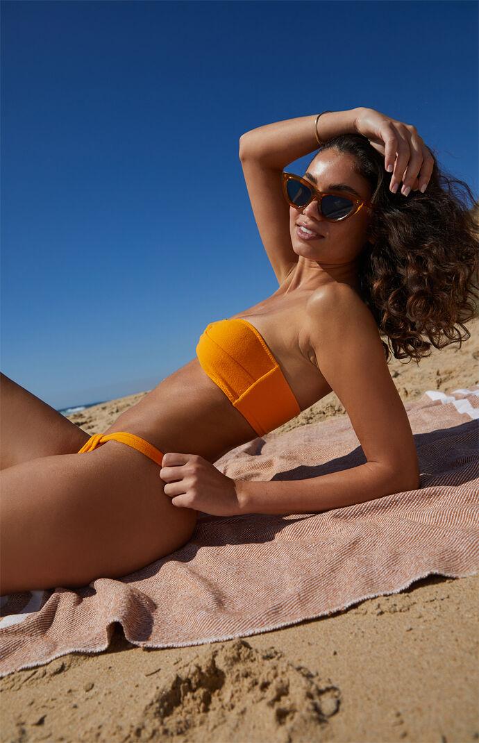 Eco Orange Austin Twist Bandeau Bikini Top