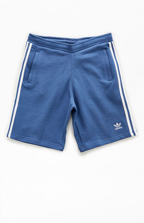 Blue 3-Stripes Sweat Shorts