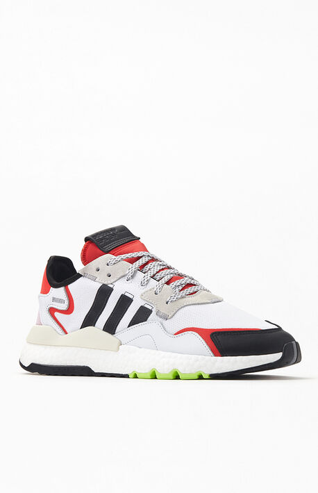 White & Red Nite Jogger Shoes