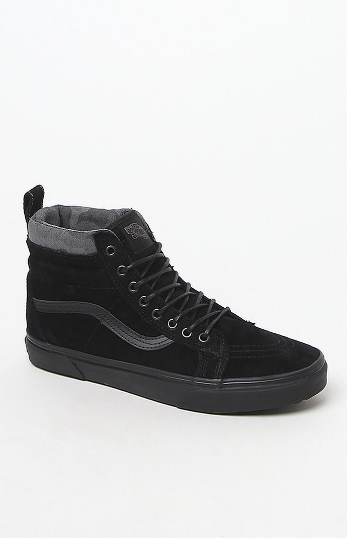 d983358bef Vans Sk8-Hi MTE Black and Camo Shoes at PacSun.com