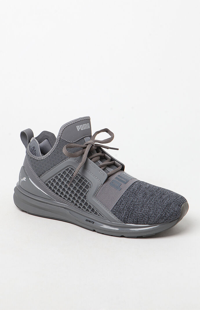 Ignite Limitless Knit Gray Shoes by Puma
