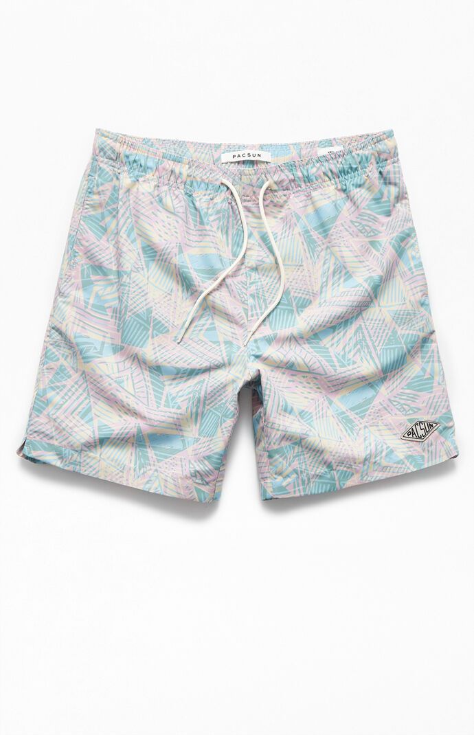 "'90s Geo 16"" Swim Trunks"