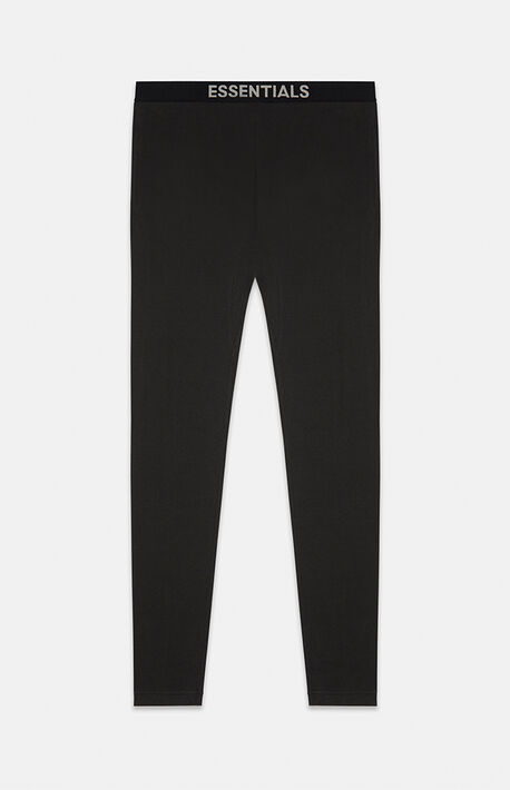 Essentials Black Thermal Pants