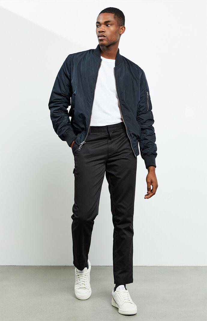 Workwear Black Carpenter Pants